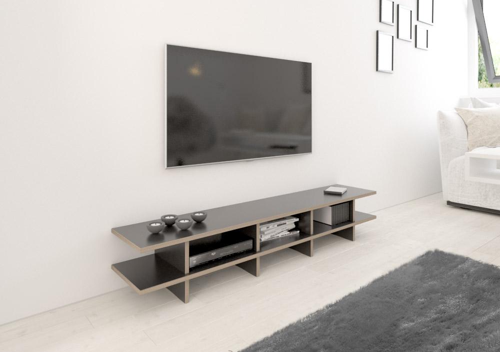 strada lowboard nach ma. Black Bedroom Furniture Sets. Home Design Ideas