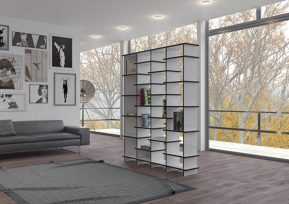 Room divider Pattan in bright penthouse