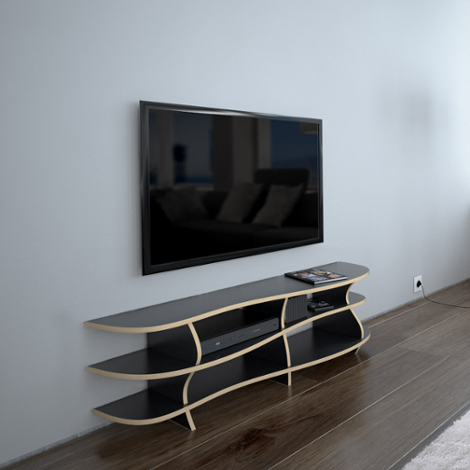 Designer TV rack made to measure Riva