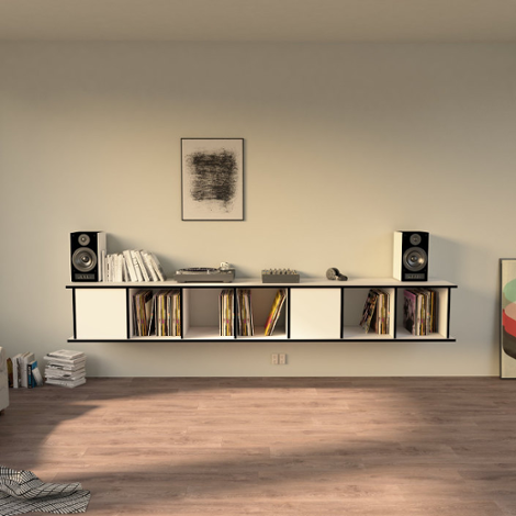 Record shelf Vinylos - The freely shapeable record shelf