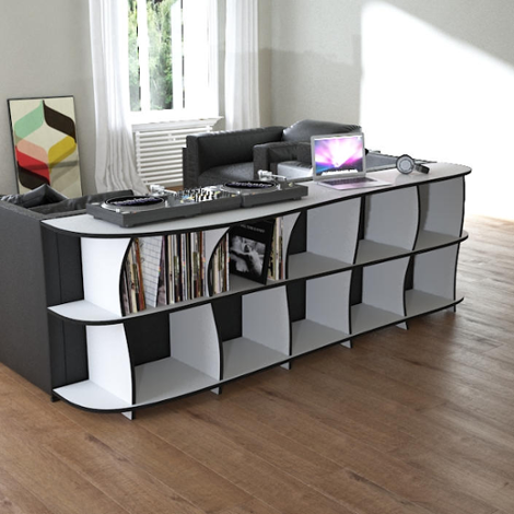 Record shelf Erika - The freely shapeable record shelf