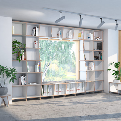 Library Sinfonia - The freely formable shelf system