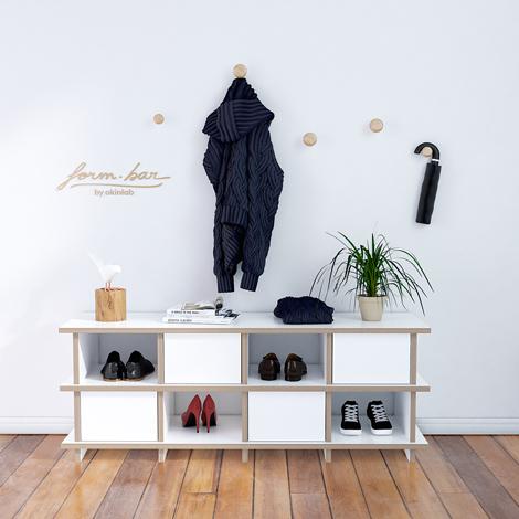Designer-Schuhregal nach Maß Brama