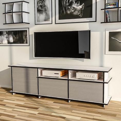 tv rack tisch board hifi fernsehtisch unterschrank schrank st nder hilde i glas platingrau. Black Bedroom Furniture Sets. Home Design Ideas