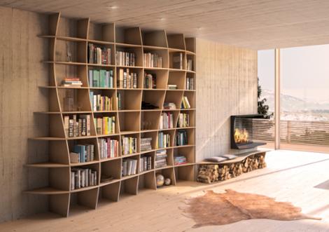 charlotta designer b cherregal nach ma. Black Bedroom Furniture Sets. Home Design Ideas