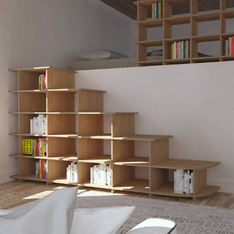 Wooden shelf Scala - designer wooden shelf made to measure