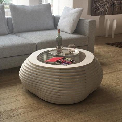 Coffee table Ciottolo White - null