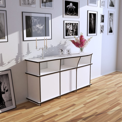 Sideboard Yvonne - Designer sideboard made to measure white with doors