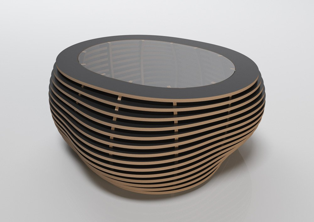Coffee table Ciottolo Black - null