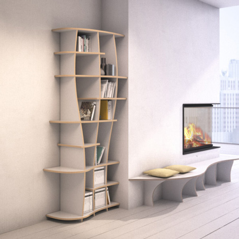 Bookcase Charlotta S - The freely formable shelf system