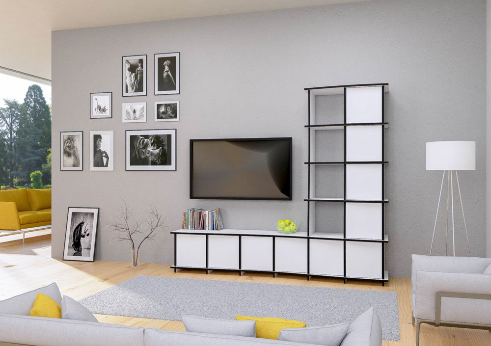juna designer tv wand nach ma. Black Bedroom Furniture Sets. Home Design Ideas