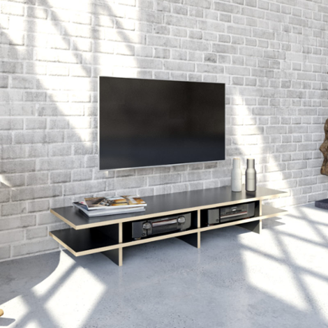 TV-Board Stradalowa - Designer-TV-Board nach Maß Schwarz