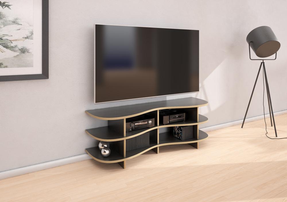 TV-Rack Boronda im Hifi-Raum
