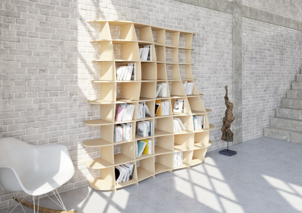 Wooden shelf Regona