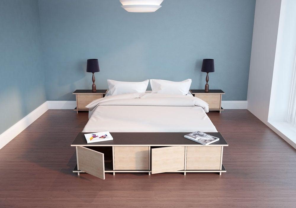 Lowboard Doralo im Schlafzimmer