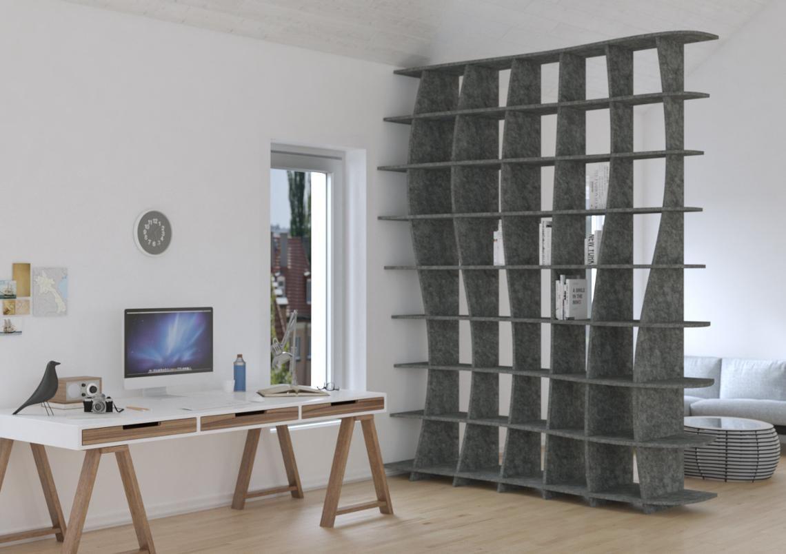 Acoustic shelf Swing - Bespoke acoustic furniture