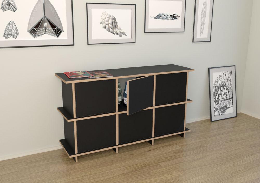 strada m designer kommode nach ma. Black Bedroom Furniture Sets. Home Design Ideas