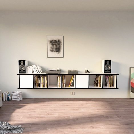 Designer-Schallplattenregal nach Maß Vinylos