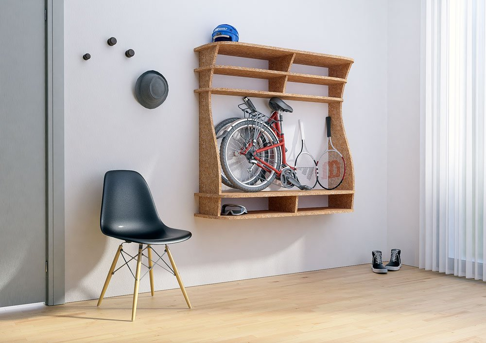 Wall shelf Bicicleta