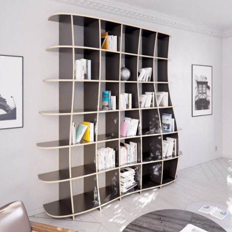 Freeda L - Designer shelving system made to measure