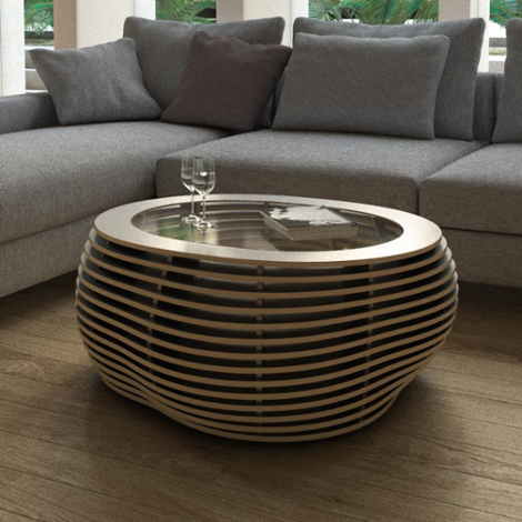 Designer coffee table made to measure Ciottolo