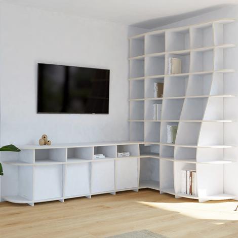 TV Corner Shelf Letana - null