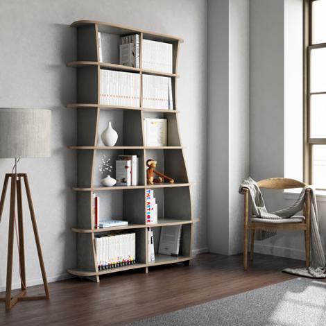Books shelf Coco - Designer bookshelf made to measure