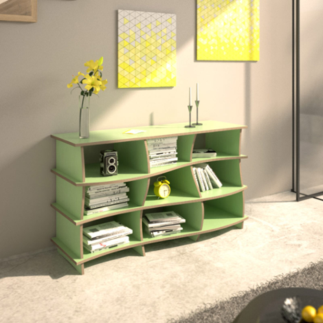 Sideboard Froko - Designer custom-made sideboard mint green