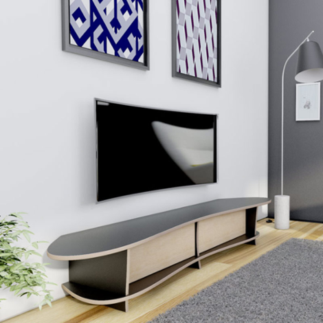 tv rack für curved tv