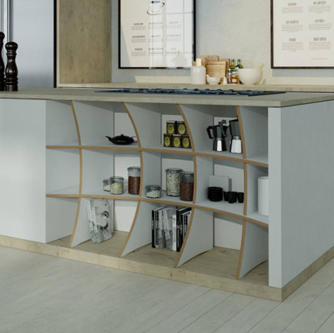Designer-Küchenregal nach Maß Lindov