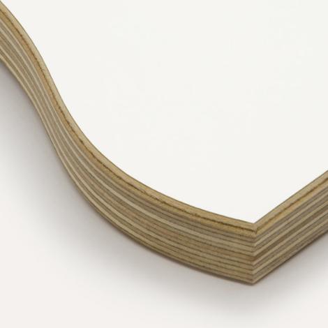 White, birch plywood