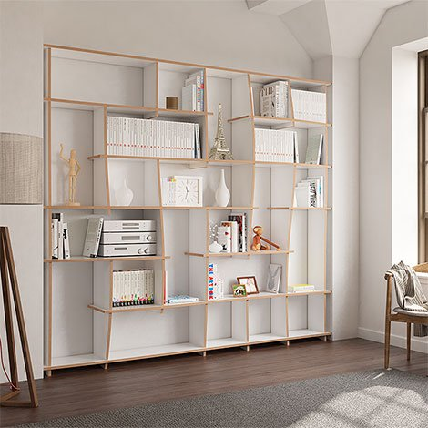 Bookcase Tanea - The freely formable shelf system