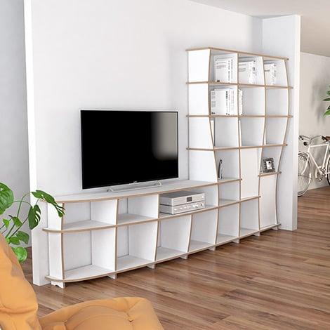 Designer-Wohnwand nach Maß Kelinda