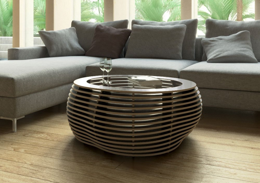 Coffee table Ciottolo Schwarz