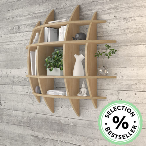 Wooden shelf Luna - null