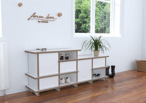 rytmo designer schuhschrank nach ma. Black Bedroom Furniture Sets. Home Design Ideas