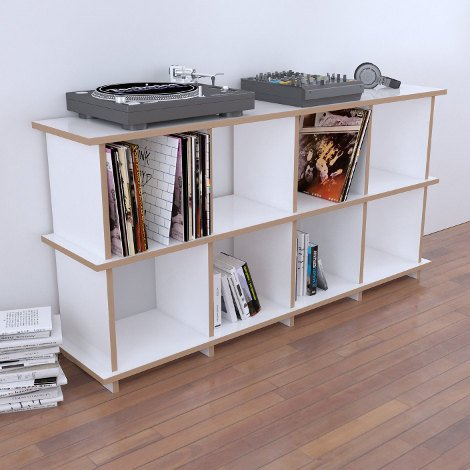 Record shelf Vinyla - The freely shapeable record shelf