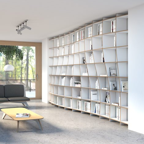 Library Pure Elegance - The freely formable shelf system