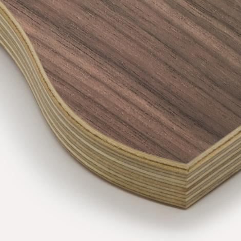 Walnut veneer, birch plywood