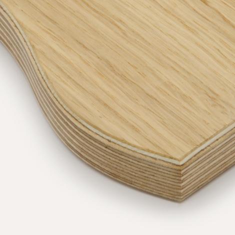 Oak veneer, birch plywood