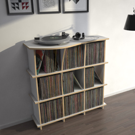 Record shelf Conco - The freely shapeable record shelf