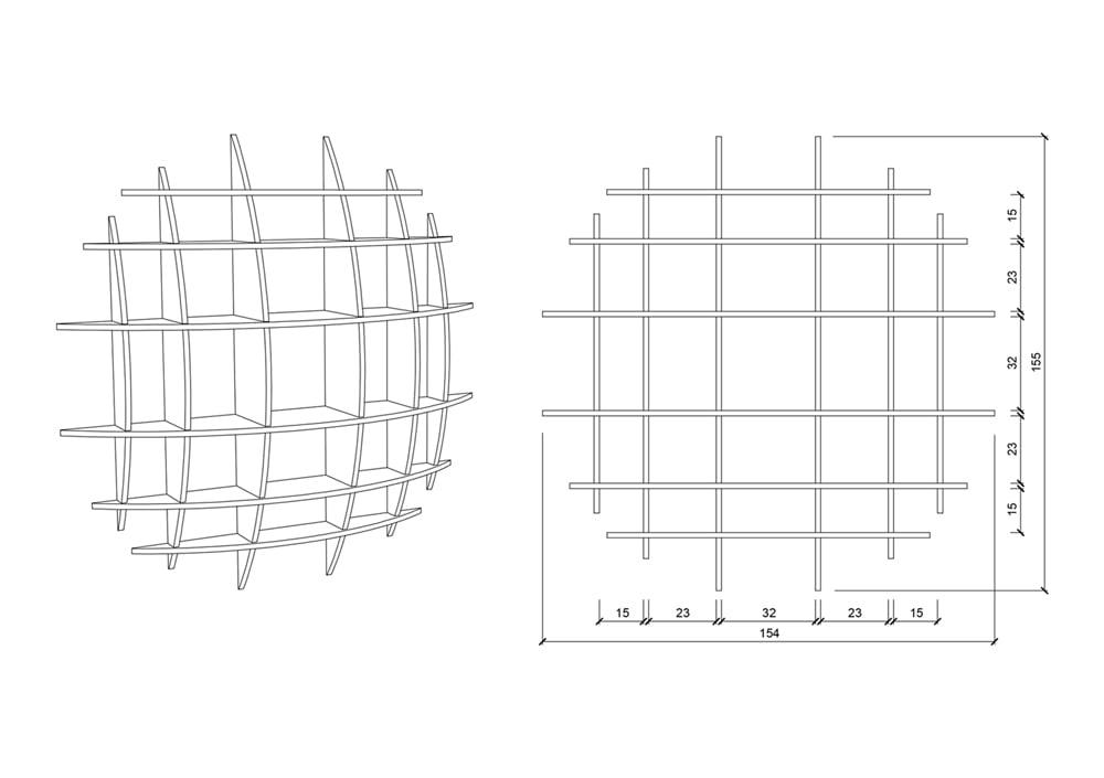 Wooden shelf Sole - null
