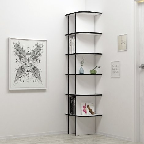 Corner shelf Glenda - The freely formable shelf system