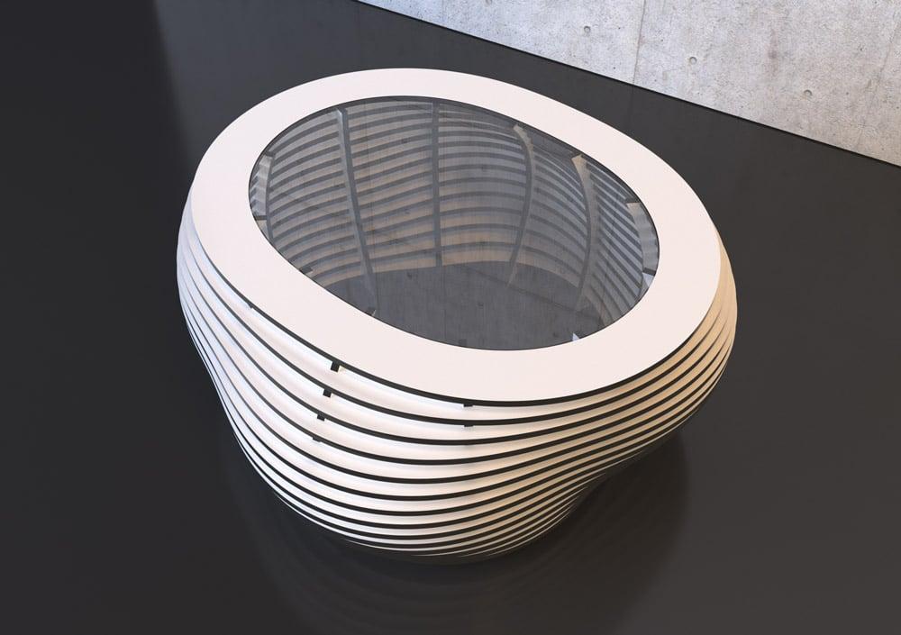 Coffee table Ciottolo B&W - Designer Coffee Table