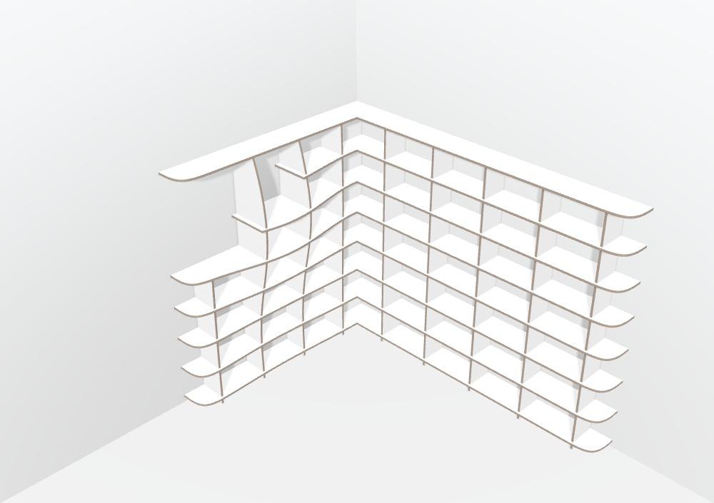 Eckregale Design-Vorlage Standard - null