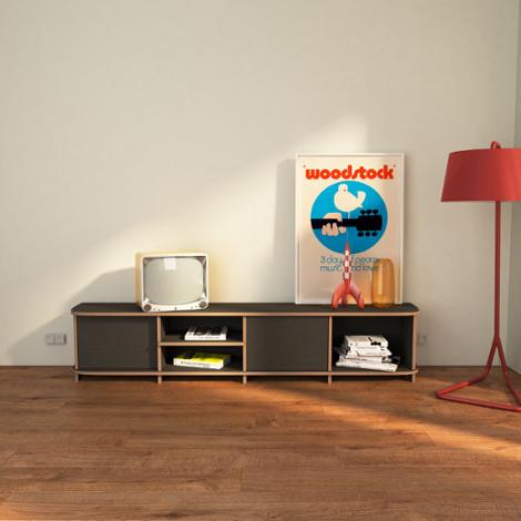 TV-Rack Austin - Das frei formbare TV-Lowboard System