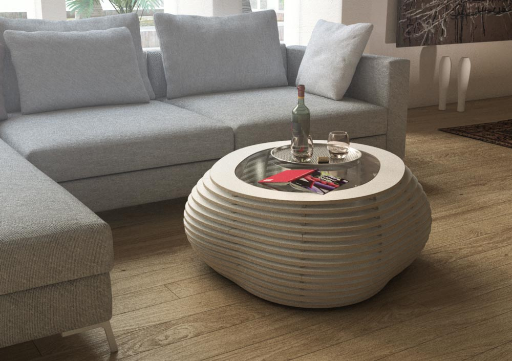 Coffee table Ciottolo White for your penthouse apartment
