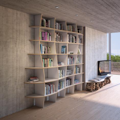Designer-Bücherregal nach Maß Charlotta MDF