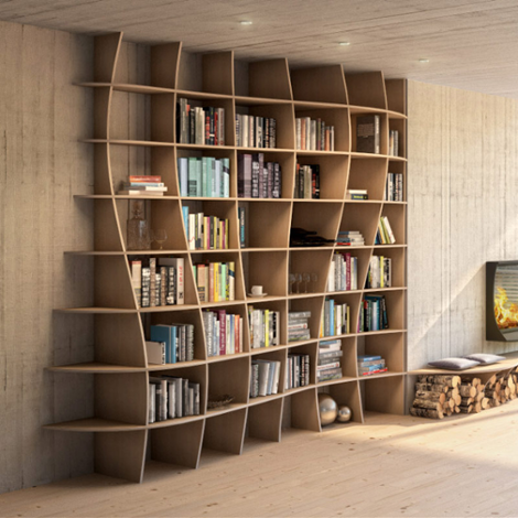 Bookshelf Charlotta - designer bookshelf made to measure