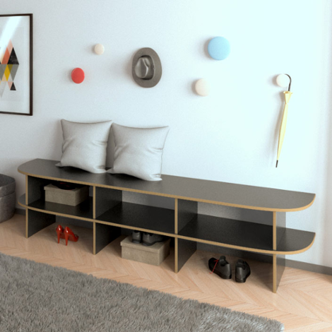 schuhbank designer schuhbank nach ma. Black Bedroom Furniture Sets. Home Design Ideas